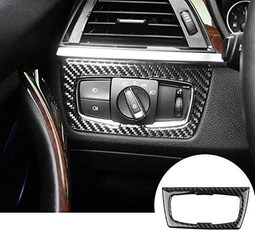 Wroadavee Kohlefaser Cockpit Dekors Auto Lichtschalter Scheinwerfer Schalter Auto