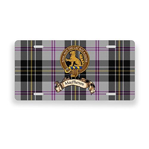 (MacPherson Scotland Clan Dress Tartan Novelty Auto Plate)