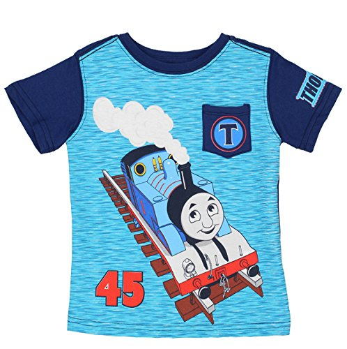 Thomas & Friends Short Sleeve Tee (4T, Navy/Blue Thomas)