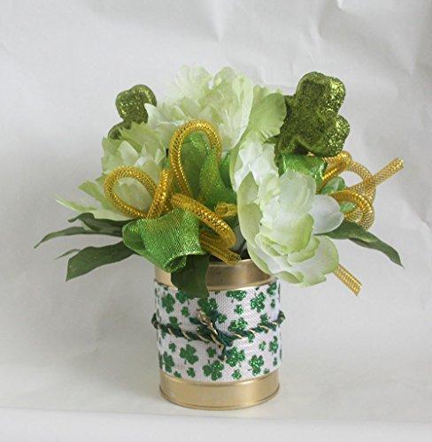 St Patricks Day peony arrangement, floral arrangement, green, irish arrangement, st patrick's day, shamrocks, floral arrangements, home décor, centerpiece, decoration]()