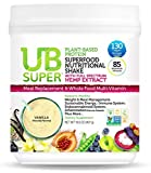 UB Super - Meal Replacement - Protein Superfood Nutritional Shake - Vegan, Gluten Free, Non GMO, No Added Sugar, Nutrient Rich - Dietary Supplement (Chocolate, Plant-Based Protein)