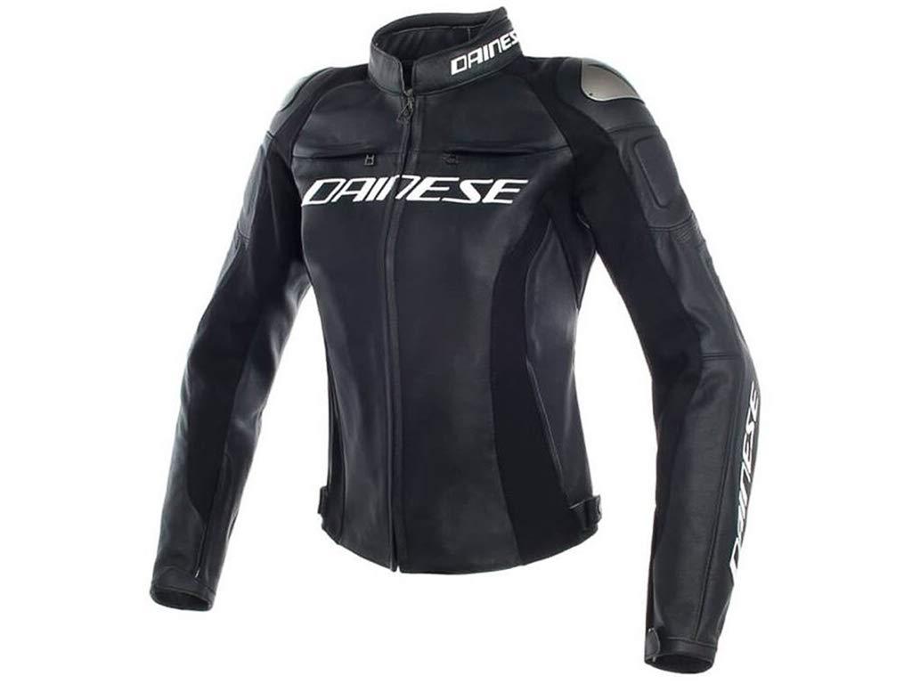 Dainese Mujer Moto Chaqueta de piel Racing 3 Lady pelle ...