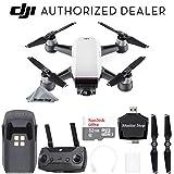 DJI Spark Drone Quadcopter - Alpine White with Remote Controller, Battery, Sandisk Ultra 32GB Memory Card, Card Reader, Charger, Bundle Starter Kit