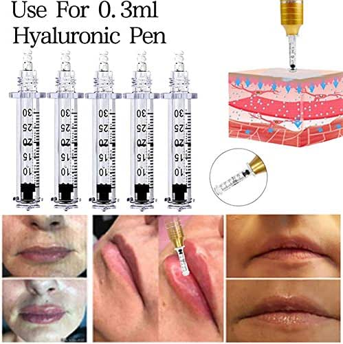 150 pcs Ampoule Head 0.3Ml Hyaluronic Injection Pen Non Invasive Wrinkle Removal Line Pregnancy Line Skin Rejuvenation Beauty