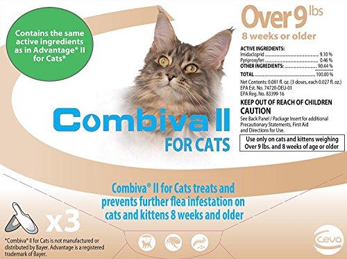 Combiva II Flea Treatment for Cats Over 9lbs