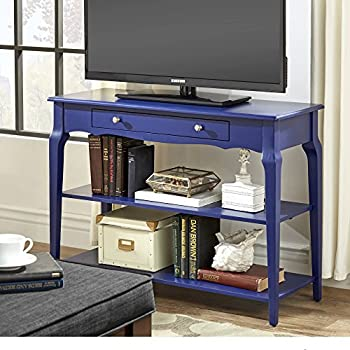 modern wood tv stand accent console sofa table with 1 drawer and 2 open shelves. Black Bedroom Furniture Sets. Home Design Ideas