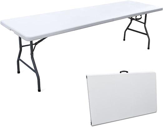 Tavoli In Resina Pieghevoli.Cilvani Tavolo Tavolino Pieghevole Xl Richiudibile Resina Valig
