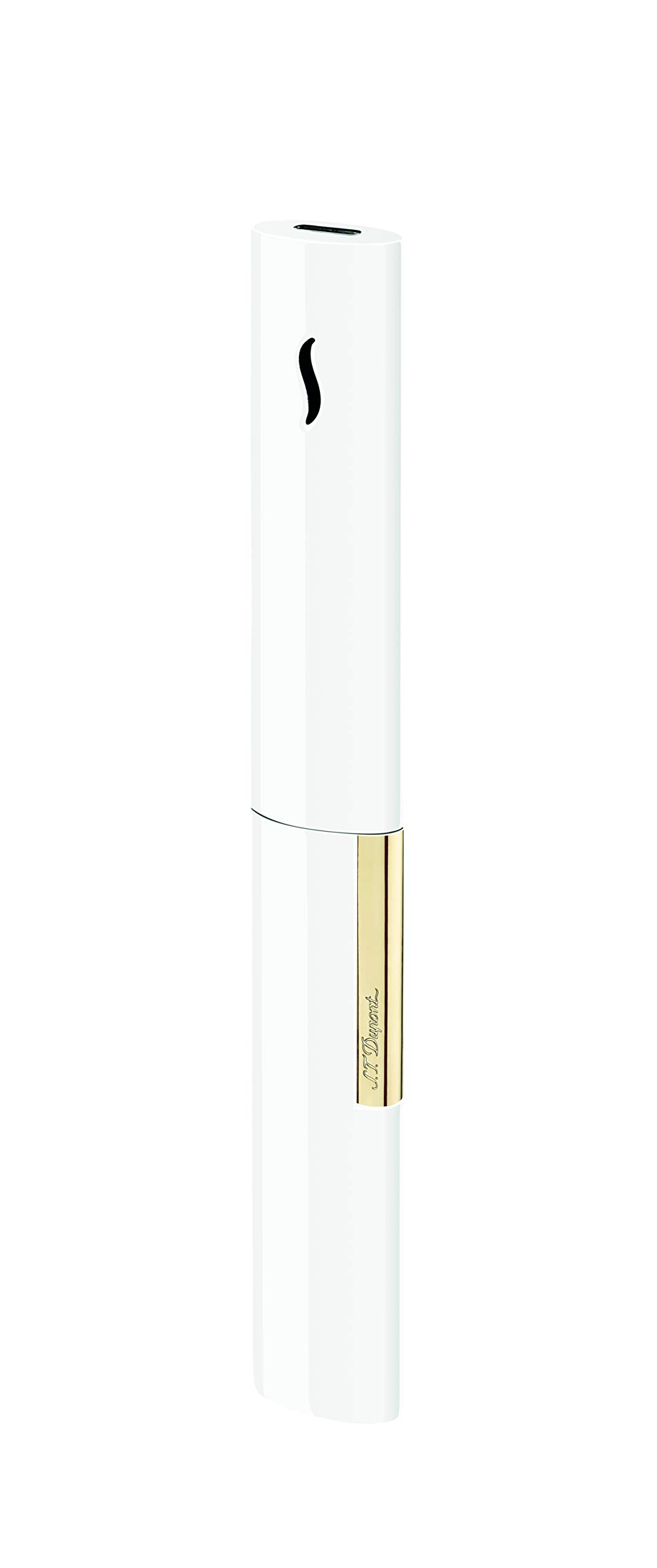 S.T. Dupont White/Gold Luxury Lighter The Wand