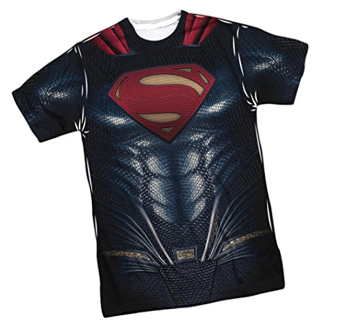 Superman Costume -- Justice League Movie Front/Back Sports