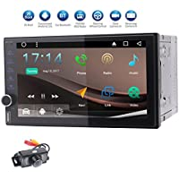 Android 7.1 2GB 32GB Car Stereo Video Player for Universal Vehicles 7 inch Octa Core Double din in Dash 7 Screen FM/AM Radio Receiver Navigation Bluetooth Wifi Mirrorlink with Backup Camera