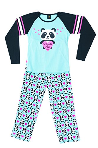 44642-10118-10/12 Just Love Two Piece Girls Pajamas Set, 10-12, Panda Love
