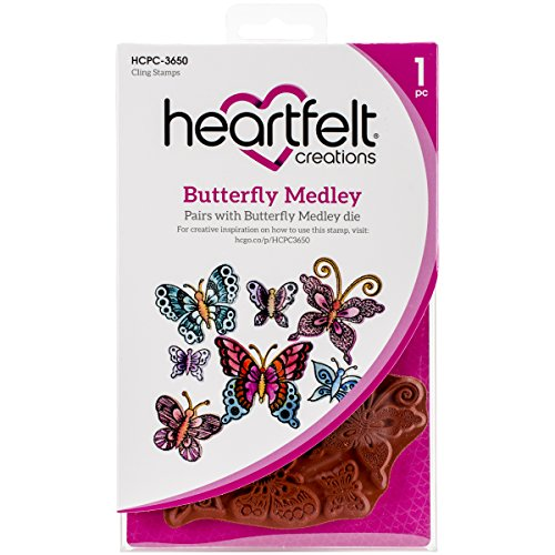 Heartfelt Creations Butterfly Medley Cling Rubber Stamp