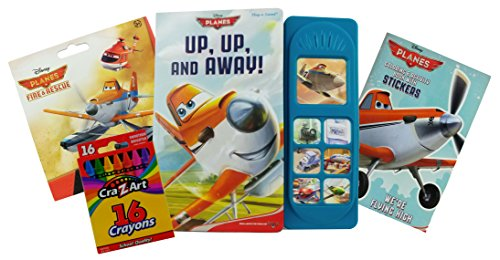 Disney Planes Bundle - 3 Items: Disney Planes Play a Sound, Disney Planes 6 x 4 Inch Coloring Book with 30 Stickers, and 40 Disney Planes Fire and Rescue Stickers (Halloween Color By Number Printable Worksheets)