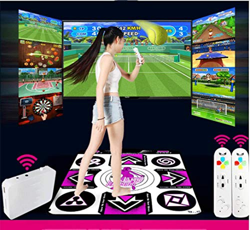 QXMEI Wireless TV Interface Computer Dual-use Single Dance Carpet Body Game Console 9183CM by QXMEI (Image #7)