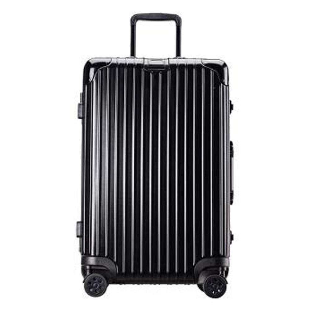 スーツケースの軽量の耐久の堅い貝のABSは4つの車輪が付いている小屋手の荷物のスーツケース旅行袋を続けます。 耐摩耗性、盗難防止、雷保護、搭乗、耐衝撃 B07S1FZ7R4 Black