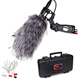 Aputure Deity Kit Super-Cardioid Condenser Shotgun Video Microphone with Windscreen, Windshield, Waterproof Safe Case and Pergear Cleaning Kit for Canon Nikon Sony Digital Camera DV Camcorder