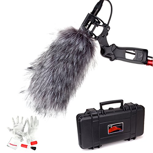 Aputure Deity Kit Super-Cardioid Condenser Shotgun Video Microphone with Windscreen, Windshield, Waterproof Safe Case and Pergear Cleaning Kit for Canon Nikon Sony Digital Camera DV Camcorder by Aputure