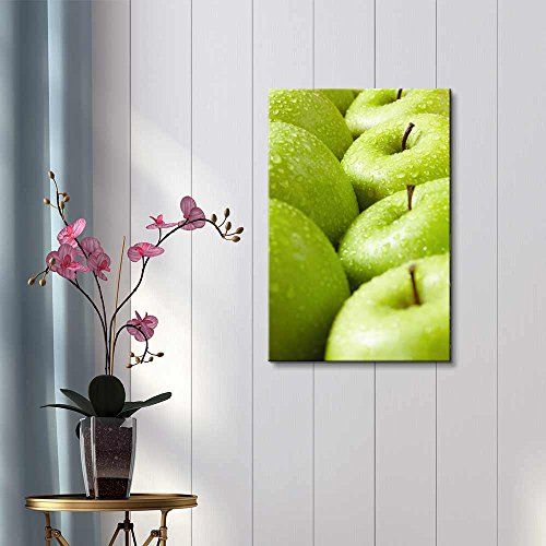 Large Group of Green Granny Smith Apples in a Row Wall Decor