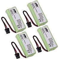 TOPCHANCES 4 Pack 2AAA 2.4V 800mAh Ni-MH Cordless Handset Rechargeable Replacement Battery for Uniden BT-1008 BT1008 BT-1008S BT1008S BT-1016 BT1016 BT-1021 BT-1025