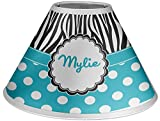 RNK Shops Dots & Zebra Coolie Lamp Shade (Personalized)