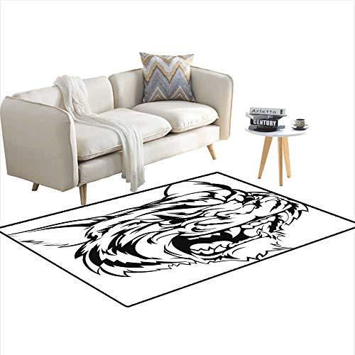 Kids Carpet Playmat Rug Tiger Mascot Character 36