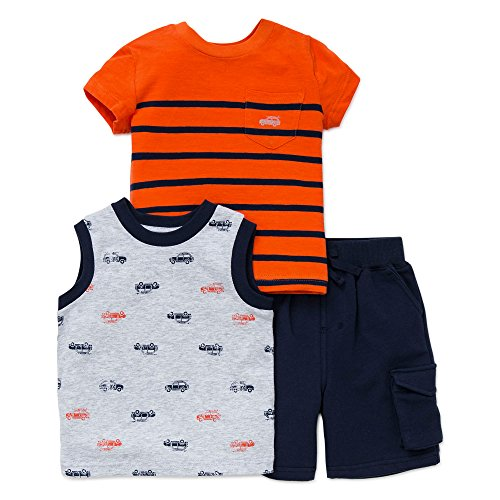 Little Me Baby Boys Cars 3pc Play Set - Navy Multi - 12 Months