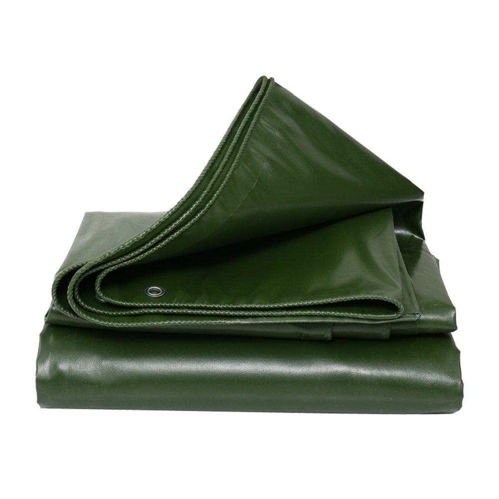 CHAOXIANG オーニング 厚い 折りたたみ可能 両面 防水 日焼け止め 耐摩耗性 耐寒性 耐食性 耐引裂性 防風 防塵の PVC 緑、 550g/m 2、 厚さ 0.6mm、 7サイズ (色 : 緑, サイズ さいず : 5×6m) B07DC6LNJZ  緑 5×6m