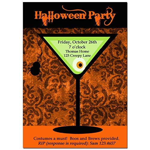 Halloween Party Invitation - Halloween Invitation - Cocktail Spooktacular Collection]()
