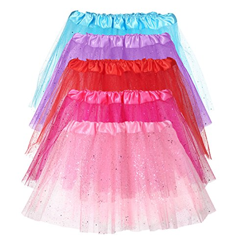 [Princess Tutu - 5 Pack Collection Ballet Tutus Party Favors by NimNik] (Toddler And Girls Aurora Princess Costumes)