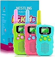 BYBOO Kids Walkie Talkies 3 Pack, 22 Channels 2 Way Radio Walky Talky Toys