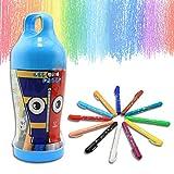 Shackgear 12 Colors Waterable Effect Crayons Set - Non-Toxic , Soft ,Bright Colours - Blue Case