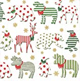 Entertaining with Caspari Northern Lights Cocktail Napkins, White, Pack of 20