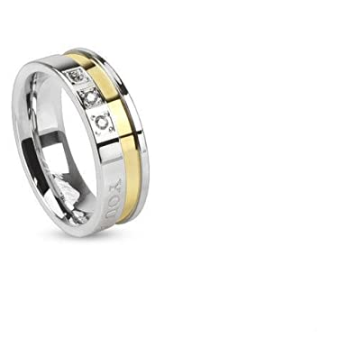 """0eca717874 'Stainless Steel Partner/Friendship Ring """"You Are Always In My Heart/"""