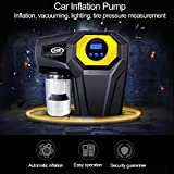 4-In-1 Car Digital LED Display Inflator Pump Car Vacuum Cleaner Wet & Dry Dual-Use Car Vacuum Cleaner With Light Inflation Measuring Tire Pressure( DC 12v 120W)