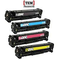 TEM Products © High Quality Compatible Replacement Toner Cartridge Set for HP CF210A,CF211A, CF212A, CF213A HP 131A Toner Set (Black, Cyan, Yellow, Magenta) for use with HP LaserJet Pro 200 Color M251n, LaserJet Pro 200 Color M276n, LaserJet Pro 200 M251nw, LaserJet Pro 200 M276nw Printers