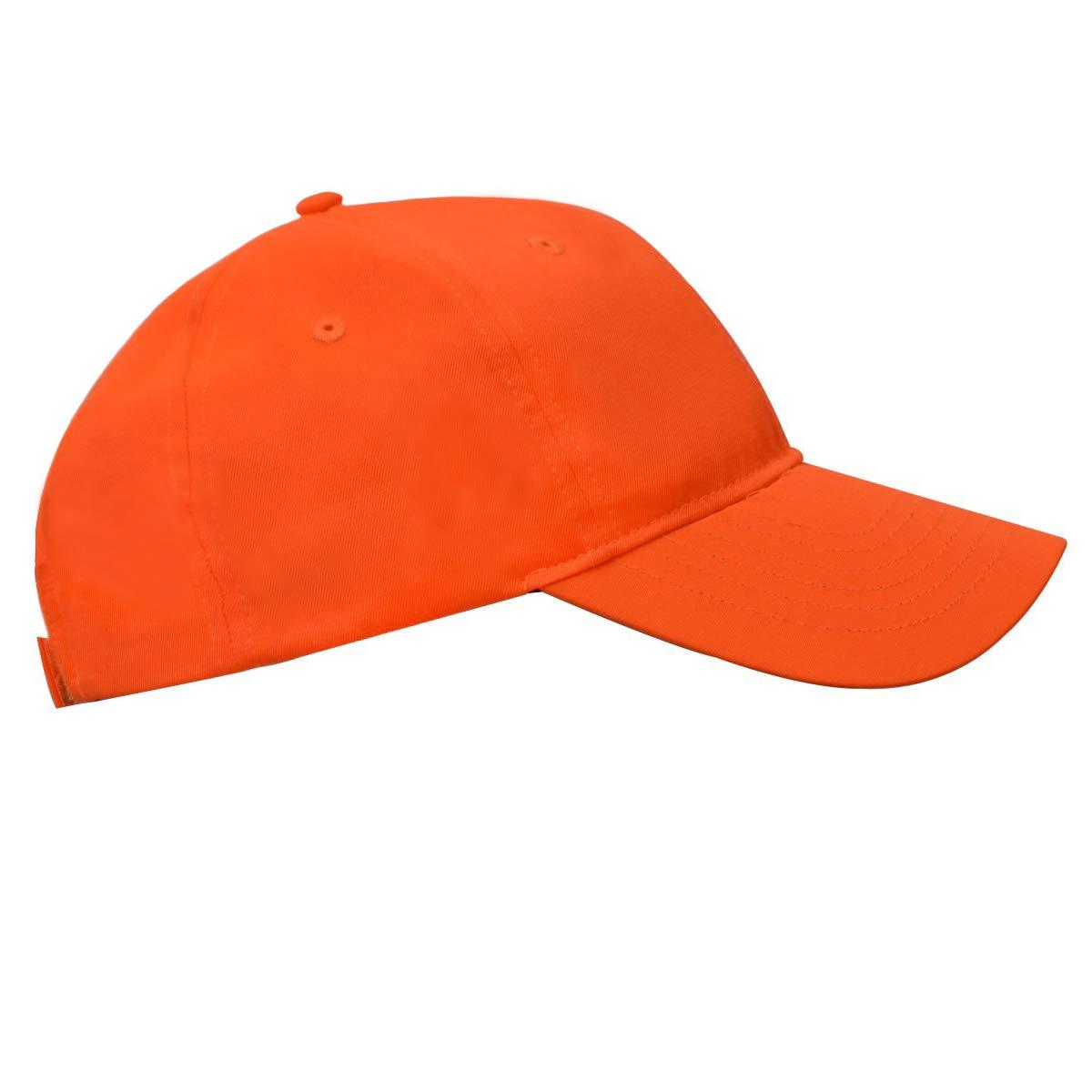 KC Caps Men Hunting Hat Orange Embroidered Baseball Cap Adjustable Back  Closure KC-8120- cb692db7dc82