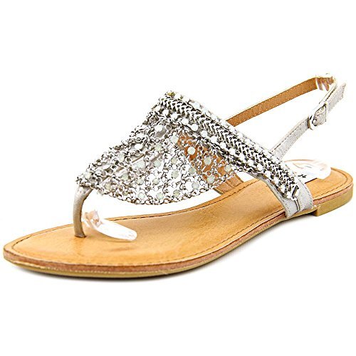 Not Rated Gem Women US 8.5 Silver Thong Sandal