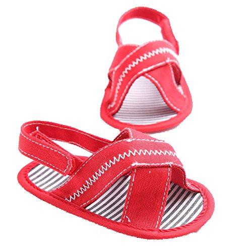 etrack-online Baby Boy Girl Verano Sandalias Soft Sole Cuna zapatos rojo rosso Talla:12-18months rosso