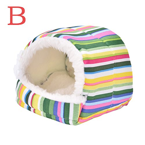 Ioffersuper 1 Pcs Pet Soft Pad/Bed/House/Nest Small Animal Cage For Hamster/Hedgehog/Rat/ (Hedgehog House)