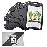 Black 2 Sided Rigid Multi Card Holder by Specialist ID (5 Pack with Bonus)