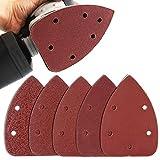 50pcs Mouse Detail Sander Sandpaper Sanding Paper Hook Loop Assorted 40 80 120 180 240 Grits