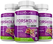 Pure Forskolin 3000mg Max Strength - Forskolin Extract for Weight Loss - Premium Appetite Suppressant, Metabolism Booster, Carb Blocker & Fat Burner for Men and Women – 3 Pack
