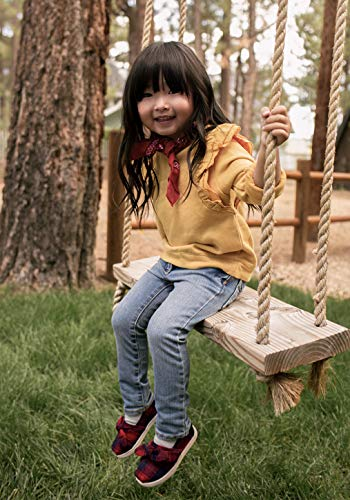 TOMS Kids Baby Girl's Alpargata (Infant/Toddler/Little Kid) Red Tartan Plaid/Bow 6 Toddler