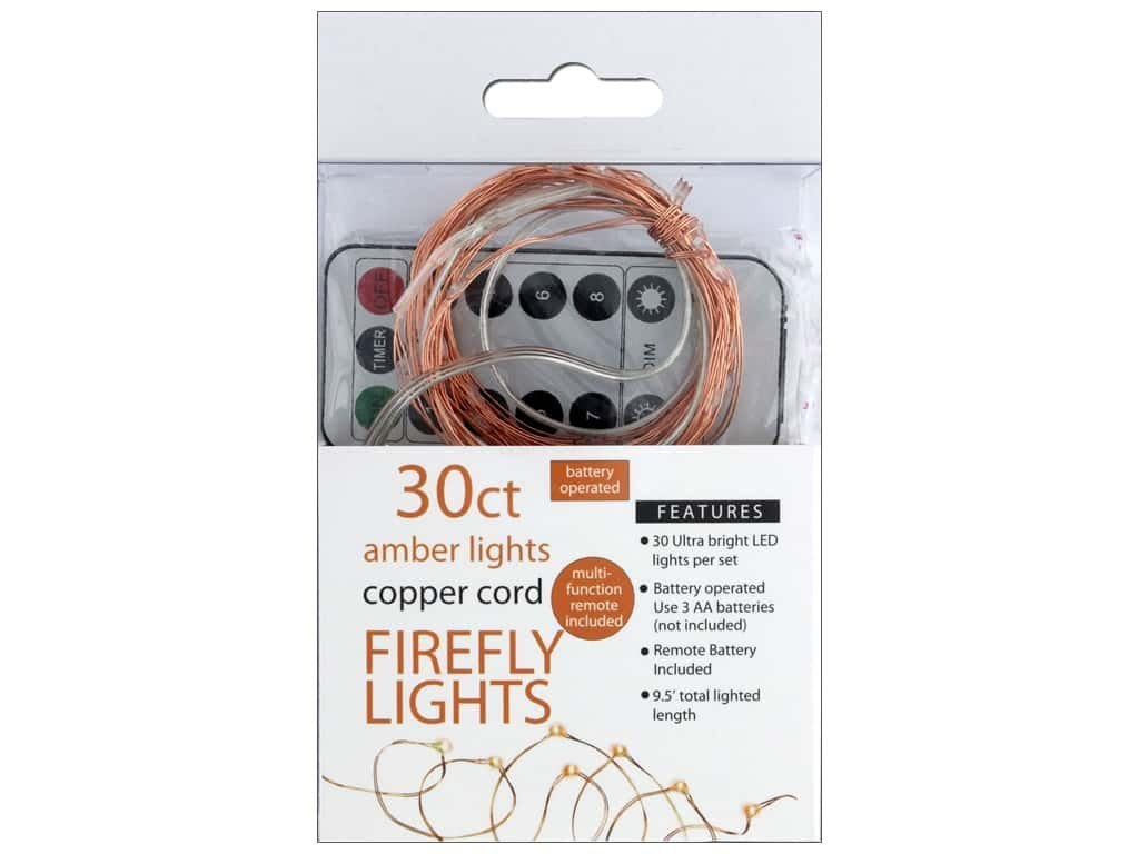 SPC Firefly 30ct Chasing W/Remote Amber/Copper Cd by Sierra Pacific Crafts