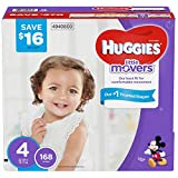 Huggies Little Movers Baby Diapers, Size 4 (312 ct.)