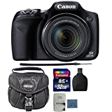 Canon PowerShot SX530 HS Digital Camera + 32GB Memory Card + Reader + Camera Case For Sale
