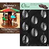 Cybrtrayd Fancy Eggs Easter Chocolate Candy Mold with Chocolatier's Guide Instructions Book Manual