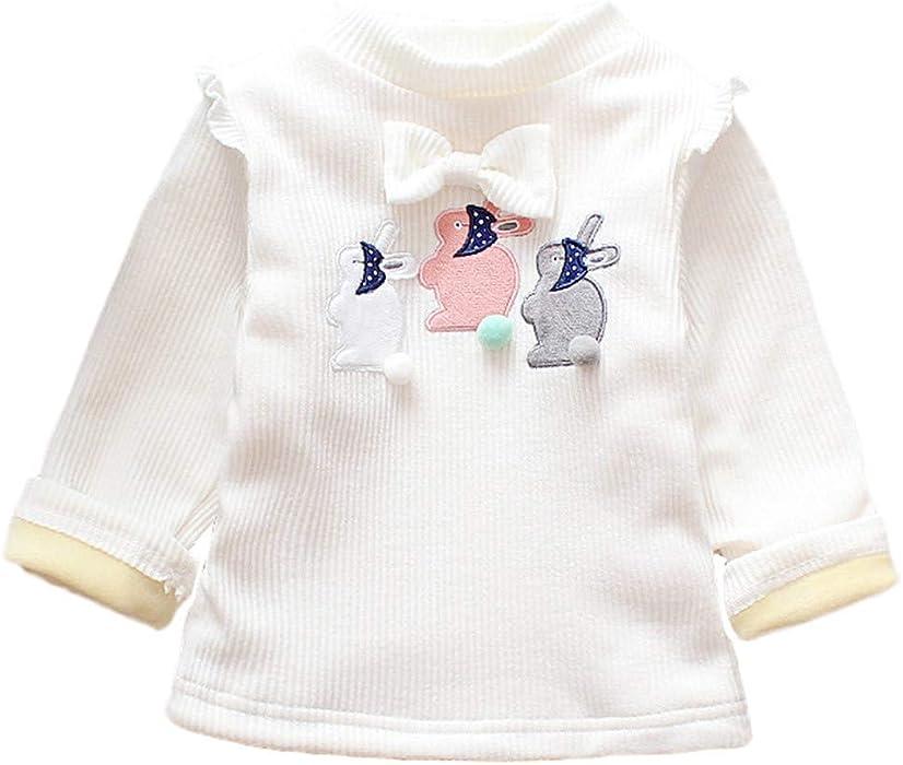 K-youth Camiseta para Niñas Blusas Niña Tops de Manga Larga Niña Camiseta Niñas Gato de Dibujos Animados Suéter Grueso Ropa de Niña Chicas Chicos Ropa Bebé ...