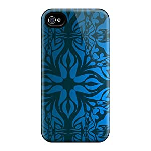 Iphone 6 Hard Back With Bumper Cases Covers Vintage Blue Pattern