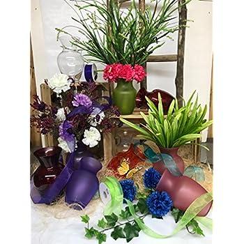 """Floral Supply Online 8 3/4"""" Ruby Red Spring Garden Vase - Decorative Glass Flower Vase for floral arrangements, weddings, home decor or office."""